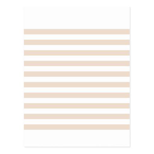 Rayas amplias - blanco y almendra postal