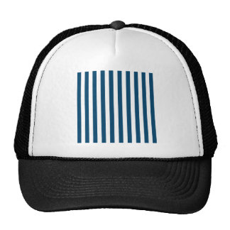 Rayas amplias - blanco y añil (tinte) gorra