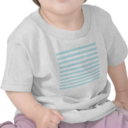 Rayas amplias - blanco y azul de la ventisca camiseta