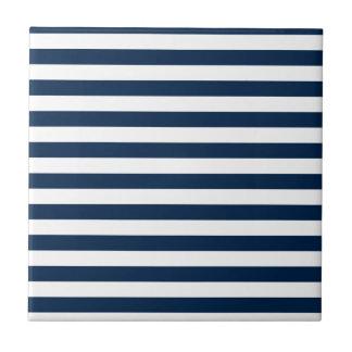 Rayas amplias - blanco y azul de Oxford Azulejo Ceramica