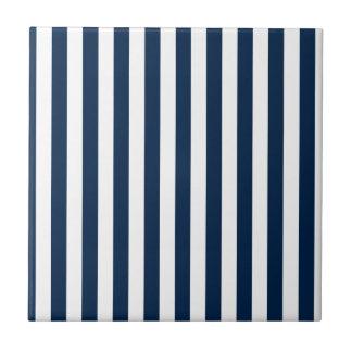 Rayas amplias - blanco y azul de Oxford Azulejos Ceramicos
