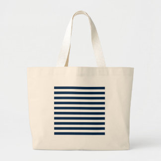 Rayas amplias - blanco y azul de Oxford Bolsa