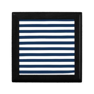 Rayas amplias - blanco y azul de Oxford Cajas De Recuerdo