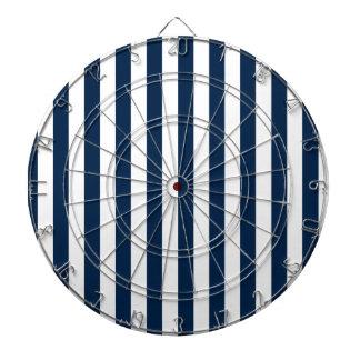 Rayas amplias - blanco y azul de Oxford Tablero De Dardos