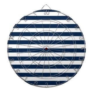 Rayas amplias - blanco y azul de Oxford Tablero Dardos