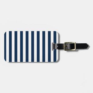Rayas amplias - blanco y azul de Oxford Etiquetas Maletas