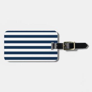 Rayas amplias - blanco y azul de Oxford Etiquetas Maleta