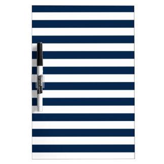 Rayas amplias - blanco y azul de Oxford Pizarras Blancas