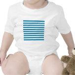 Rayas amplias - blanco y azul del Celadon Trajes De Bebé