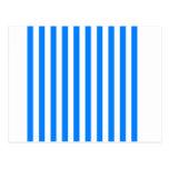 Rayas amplias - blanco y azul postal