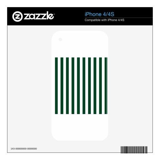 Rayas amplias - blanco y Británicos que compiten c Skins Para eliPhone 4