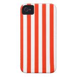 Rayas amplias - blanco y escarlata Case-Mate iPhone 4 funda