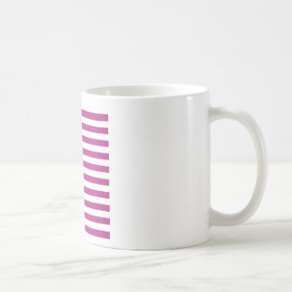 Rayas amplias - blanco y fandango taza de café