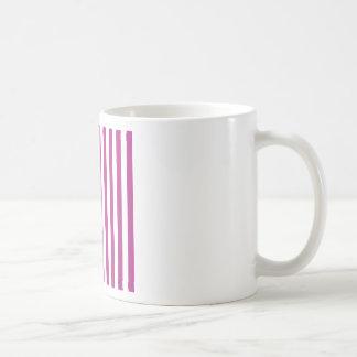 Rayas amplias - blanco y fandango tazas