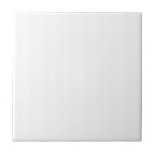 Rayas amplias - blanco y lino azulejo cuadrado pequeño