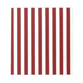 Rayas amplias - blanco y marrón bloc de notas