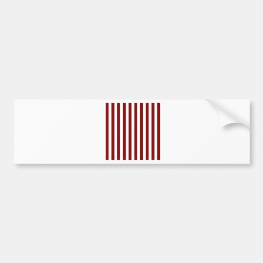 Rayas amplias - blanco y marrón pegatina de parachoque