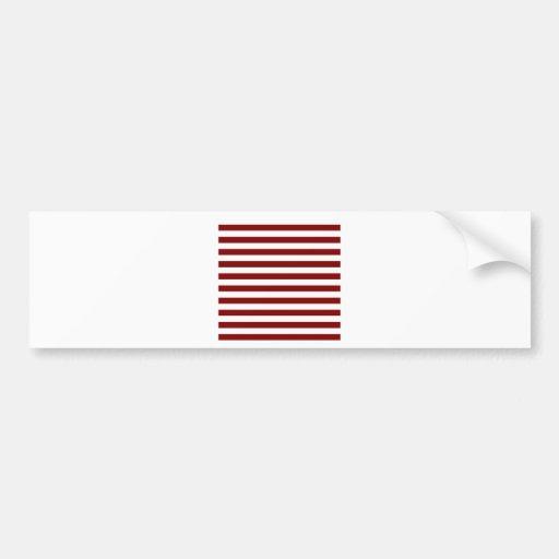 Rayas amplias - blanco y marrón etiqueta de parachoque