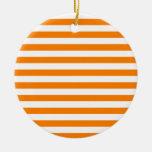 Rayas amplias - blanco y naranja ornamento para reyes magos