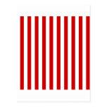 Rayas amplias - blanco y rojo de los BU Postal