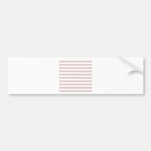 Rayas amplias - blanco y tormenta del polvo pegatina de parachoque