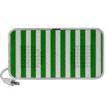 Rayas amplias - blanco y verde laptop altavoces