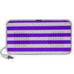 Rayas amplias - blanco y violeta iPhone altavoz