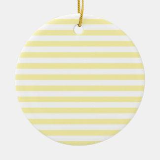 Rayas amplias horizontales - amarillas claras y ma adornos de navidad