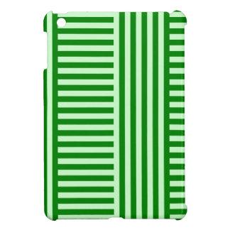 Rayas amplias simples de V&H - Offwhitegreen y ver iPad Mini Protector