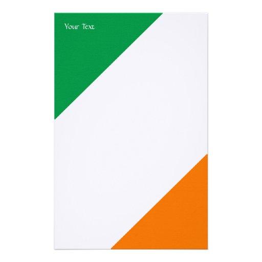 Rayas anaranjadas blancas verdes papeleria personalizada