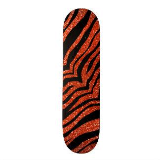 """Rayas anaranjadas de neón del tigre del brillo patineta 7 3/4"""""""