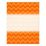 Rayas anaranjadas del zigzag comunicado personal