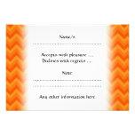 Rayas anaranjadas del zigzag comunicados personalizados