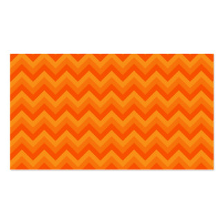 Rayas anaranjadas del zigzag plantillas de tarjetas de visita