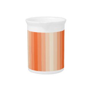Rayas anaranjadas jarrones