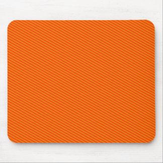 Rayas anaranjadas mouse pads