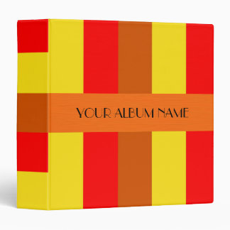 """Rayas anaranjadas rojas amarillas personalizadas carpeta 1 1/2"""""""