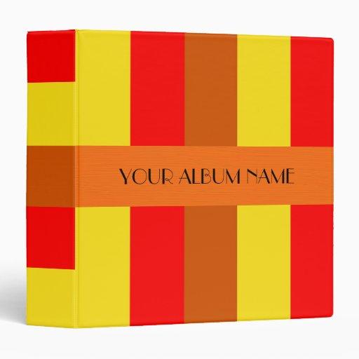 Rayas anaranjadas rojas amarillas personalizadas p