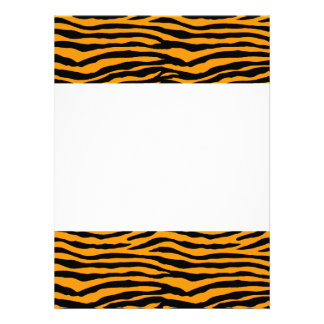 Rayas anaranjadas y negras del tigre comunicados