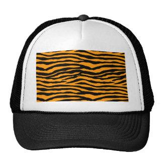 Rayas anaranjadas y negras del tigre gorro