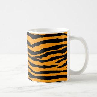 Rayas anaranjadas y negras del tigre taza de café