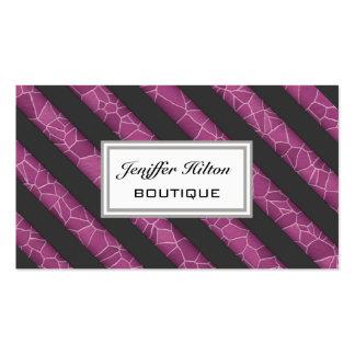 Rayas apacibles modernas elegantes profesionales plantilla de tarjeta personal