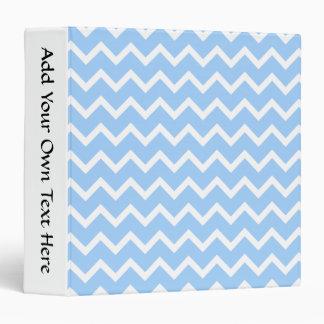 """Rayas azul claro y blancas del zigzag carpeta 1 1/2"""""""