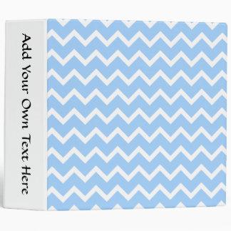"""Rayas azul claro y blancas del zigzag carpeta 2"""""""
