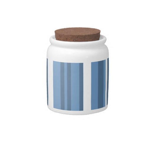 Rayas Azul-Grises; Rayado Jarras Para Caramelos