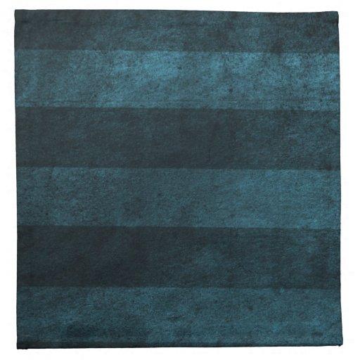 Rayas azules calientes del vintage servilleta de papel