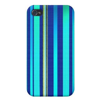 Rayas azules cambiantes iPhone 4 carcasas
