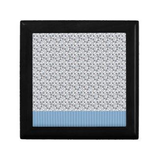 Rayas azules claras con los círculos caja de recuerdo