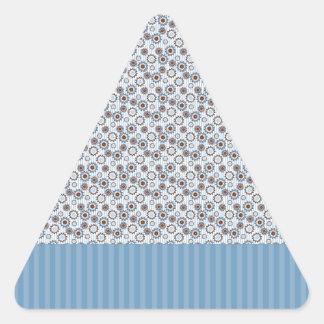 Rayas azules claras con los círculos calcomanías de trianguladas
