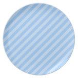 Rayas azules claras plato de comida